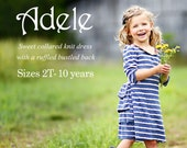 Adele Bustle Dress PDF Pattern & Tutorial, All sizes 2t-10 years included