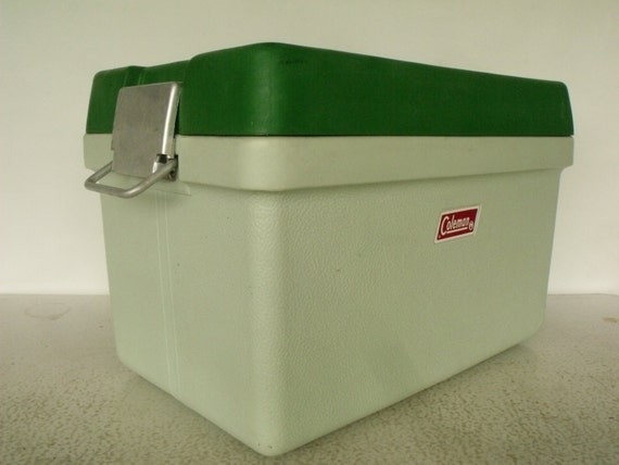 Coleman Polylite Cooler Vintage 1970 Low Boy Ice Chest By