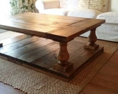 RESERVED - Balustrade Coffee Table Free Shipping