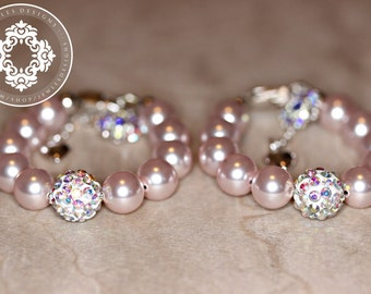 Twin bracelet Set,  Baptism, blessing, christening,communion, godmother gifts, by JewlesDesigns on etsy