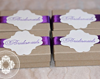 Specialty Bridesmaid Gift Boxes, Children's gifts, bridesmaids-personalized-Initial, Personalized Gift,  Jewellery