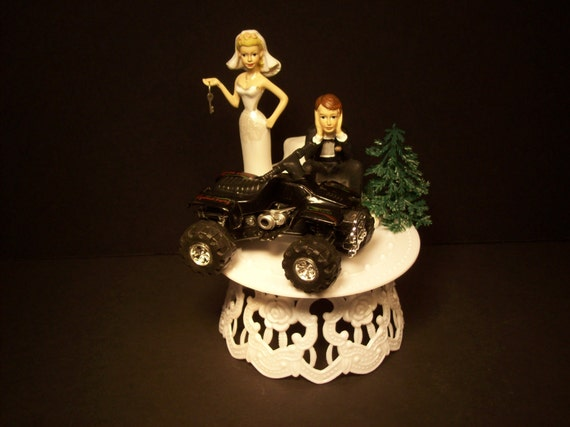 4 wheeler wedding cake toppers four wheeler and groom wedding cake topper w by 10428