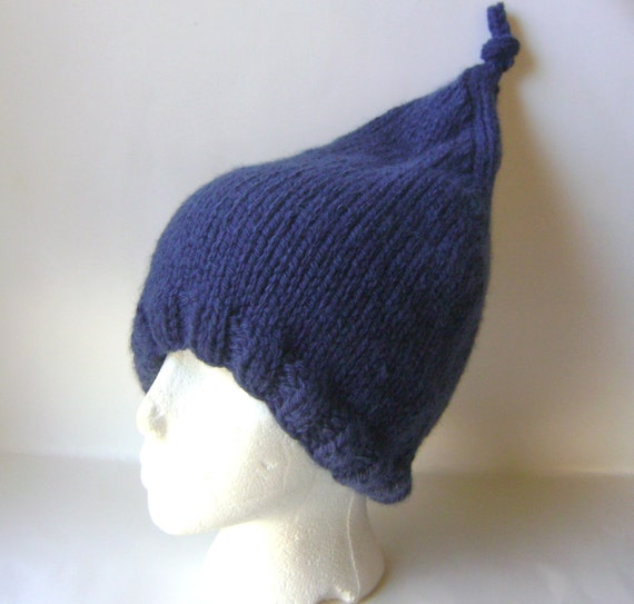 Items similar to Adult Elf Hat Pattern, PDF Knitting Pattern, Top Knot Elf Ha...