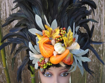 Autumn Feather Headdress