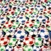 Minky Blanket Mutli Color Soccer Ball Print Minky with Blue Dimple Dot Minky Backing - Perfect Size a Toddler or Child