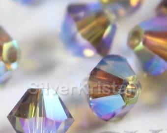 Promotion Item - 144pcs Swarovski Elements - Swarovski Crystal Beads 5328 4mm Xillion Beads - Greige AB2X