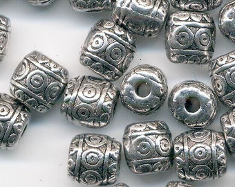 50 Tibetan Style Antique Silver Metal, Nickel Free, Lead Free and Cadmium Free - Great Spacer Bead