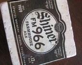 Shiner FM 966 Farmhouse Ale Natural Stone Coaster