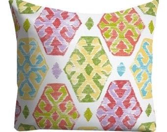 pool pillows, outdoor pillows, pillow covers, bright outdoor pillow, pink pillows, green pillows, 12x16 pillow, lumbars, chair pillows