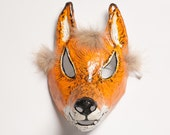 Paper mask fox mask hand made