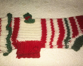 Christmas sweater for dog. Size 2 (31x23cm/12x8,5 inch)