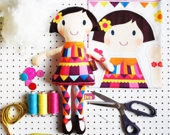 craft plush doll kit make your own DIY personalised rag doll