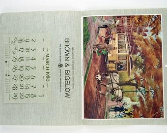 Vintage 1980 Fred Sweney Loop Around the Park Calendar Print