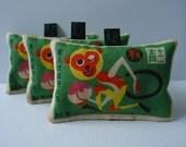 Chinese Monkey lavender bag
