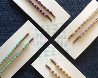Deco Zebra Hair Pins