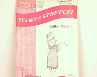 1970s bra slip pattern // Sew-Knit-N-Stretch 227