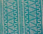 Mud-cloth Design Hand Block-Printed Cotton Fabric