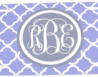 License Plate - Personalized Quatrefoil License Plate  Custom Monogram License Plate  - Purple and Gray -  Personalized License Plate