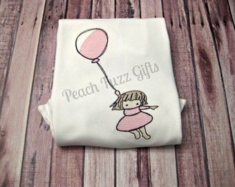 Sketch Embroidery Girls Shirts, Embroidered Shirt, Custom Shirts for Kids, Toddler Shirts