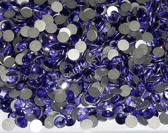 50 pcs Swarovski Crystal Flatbacks Tanzanite color 20ss (4.6 - 4.8mm) SS20 2028 Xilion
