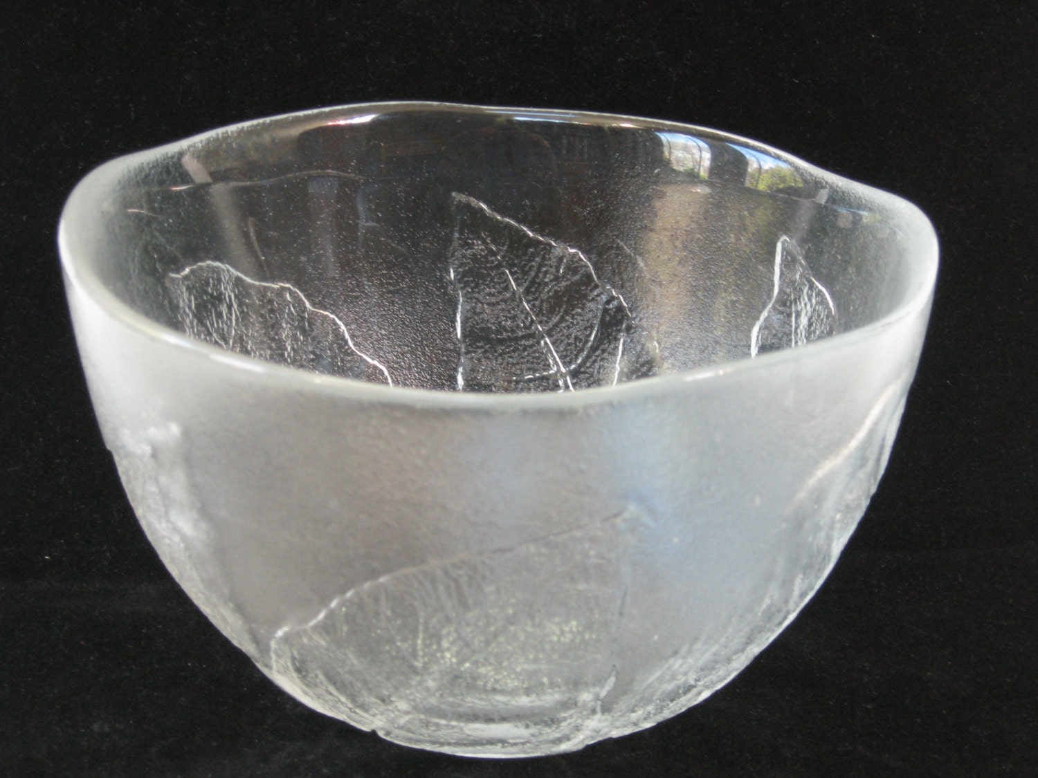 Kosta Boda Party Leaf Salad Serving Bowl Ann Warff Mid