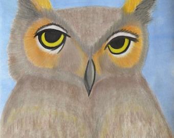 Weird Wildlife Series - Our Wise Friend Mr. Owl - Print