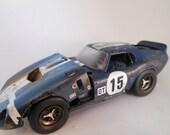 Resin  Scale Model Daytona Race Car in blue from Classicwrecks