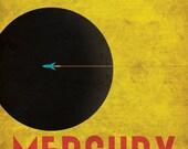 Mercury Retro Planetary Travel Poster