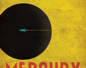 Mercury Retro Planetary Travel Poster