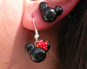 Cute Mickey and Minnie Mouse Earrings