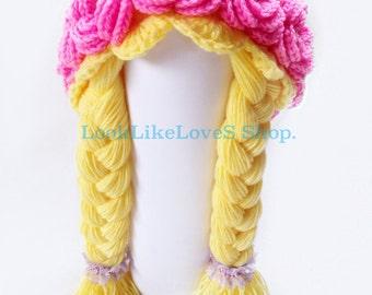 Flowers Hair Wig Crocheted 3m -24m