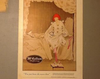 1920's McCallum Silk Hosiery magazine ad