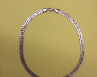 Sale- Fabulous Men's Women's Vintage WIDE HEAVY Italian STERLING 925 Herring Bone Chain Necklace- Birthday Gift Him Her Mom Dad Mother Men
