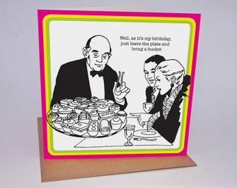 Humourous retro Greetings Card