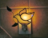 Peace Dove Night Light - Iridescent Opal Glass