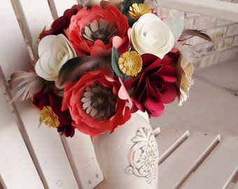 Autumn Paper Bouquet