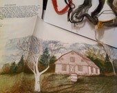 Needlecraft by Cathy, The Meetinghouse #0047, Crewel Embroidery Kit