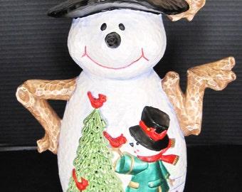 Snowman Electric Lamp