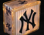 New York Yankees Glass Block Light