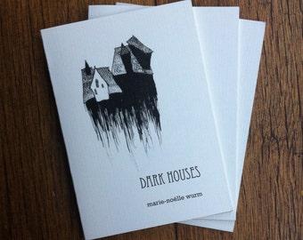 Dark Houses zine - visual poetry art haunting houses black and white