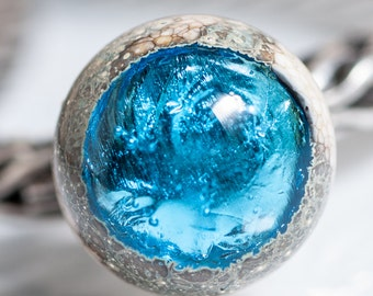 GlassBonBon  Artisan Lampwork Bead universal SRA sterling silver glass