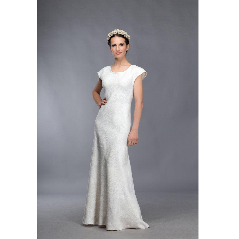 unique wedding dress felted wedding dress bridal dress