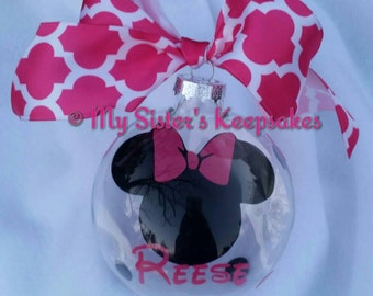 Mouse Inspired-Personalized Christmas Ornament-Floating Ornament
