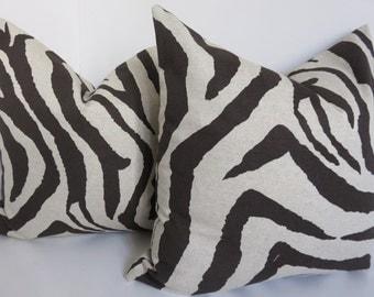Pillow Cover, Decoartive Pillow Cover,Beige Pillow Cover, Dark Brown Pillow cover, Zebra Pillow Cover, Zebra Pillow