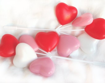 ReTRo Balloon Heart Picks--3 bunches--great for valentines day cupcakes