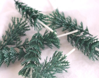 Green Pine Trees-----12ct--cupcake picks-christmas parties-holidays-cupcakes