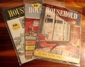Collection 1950s Mid-Century Household Magazines Vintage Mad Men Eames Era Style 1952 1954 Total 3