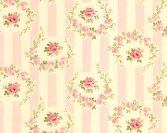 Barefoot Roses by Tanya Whelan Pink Rosie Strips 1 Yard