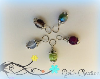 Charm Dangle beads with cute spacers for bottlecap necklaces, jewelry, etc..