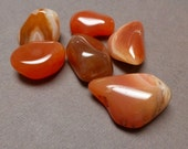 Tumbled Stones. Carnelian. Gemstone Undrilled. Wire Wrapping Stone. 20mm - 27mm. One (1)